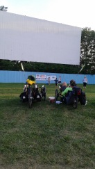 Reclining of trikes at drive-in theater