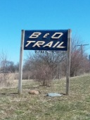 B & O TRAIL SIGN
